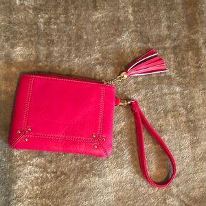 Charming Charlie Berry Pink Wristlet NWOT